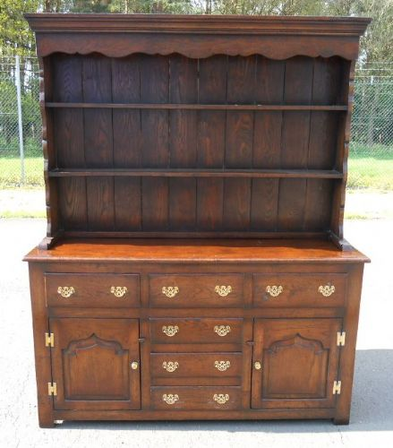 SOLD - Large Quality Oak Dresser